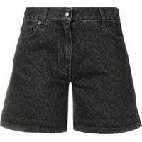 Mcq Alexander Mcqueen Short Jeans Animla Print - Preto
