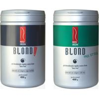 Red Iron Pó Descolorante Extra Forte Blond Extreme + Red Iron Blond Free Style Extra Forte - 2X400G - Feminino-Incolor