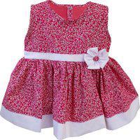 Vestido Padroeira Baby Floral Manuela Rosa