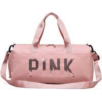 Bolsa Feminina Mala Pink Academia Fitness Transversal Casual Rosa Claro