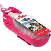 Bebedouro Para Cão Drinks Plast Pet Portátil Rosa 500Ml 1 Unidade