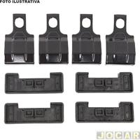 Kit Para Rack - Eqmax - Etios Hatch/Sedan 2013 Até 2014 - Aço - N.050 - Adquirir Barras 1,10 M - Jogo - Kit 050