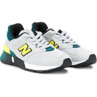 New Balance Kids Tênis Com Mesh - Cinza