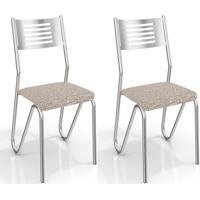 Conjunto 2 Cadeiras Nápoles Linho Marrom