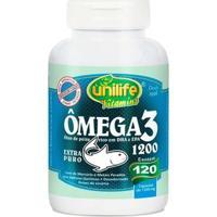 Ômega 3 1200Mg - 120 Cápsulas - Unilife - Unissex