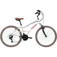 Bicicleta Caloi 400 - Aro 26 - Freio V-Brake - Câmbio Traseiro Shimano Tz - 21 Marchas - Feminina - Branco