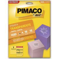 Etiqueta Adesiva Pimaco Carta Com 100 Unidades Transparente 279,4X215,9Mm
