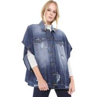 Colete Jeans Triton Destroyed Azul