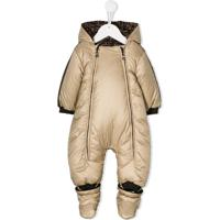 Fendi Kids Hooded Padded Snowsuit - Neutro