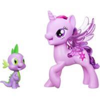 Figuras My Little Pony Movie - Princess Twilight Sparkle E Spike The Dragon - Hasbro