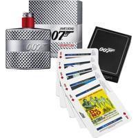 Kit Perfume Eau De Toilette 007 Quantum Masculino James Bond 50Ml + Jogo De Cartas - Masculino