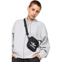 Bolsa Adidas Originals Shoulder Bag Fest Trefoil Preta - Preto - Dafiti