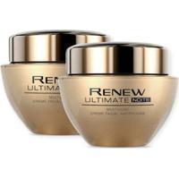 Kit 2 Creme Facial Antirrugas Renew Ultimate Multiacao   Noite 50G - Unissex-Incolor