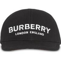Burberry Kids Boné Com Logo - Neutro
