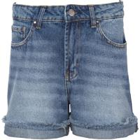 Bermuda Le Lis Blanc Classic Reta Jeans Azul Feminina (Jeans Médio, 38)