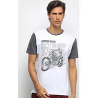 Camiseta Hd Hell On Wheels Masculina - Masculino-Branco