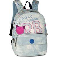 "Mochila Laptop Rebecca Bonbon Jeans Estonado 17"" Modelo 1"