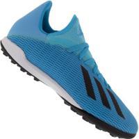 Chuteira Society Adidas X 19.3 Tf - Adulto - Aqua