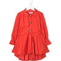 Abel & Lula Trench Coat Com Abotoamento Simples - Vermelho