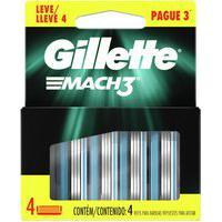 Refil Para Barbear Gillette Mach3 Com 4 Unidades 4 Unidades