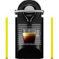 Máquina De Café Nespresso Pixie Clips 220V Preto E Limão Neon Com Desligamento Automático