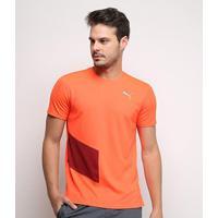 Camiseta Puma Ignite S/S Tee Masculina - Masculino-Laranja