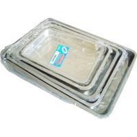 Tabuleiro N3 De Alumínio Para Bolo 35 X 24 X 4,2 Cm