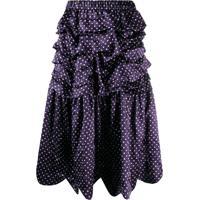 Comme Des Garçons Girl High-Waisted Dotted Skirt - Azul