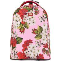 Dolce & Gabbana Kids Mala Com Estampa Floral - Rosa