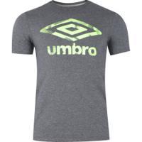 Camiseta Umbro Twr Poly Graphics - Masculina - Cinza Esc Mescla