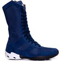 Bota De Treino Masculina Rockfit Flexor Em Couro Azul