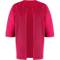 Homme Plissé Issey Miyake Open Front Pleated Cardigan - Rosa