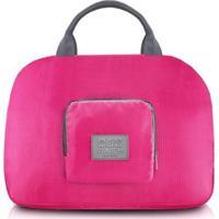 Bolsa De Viagem Jacki Design Dobrável De Poliéster - Feminino-Pink