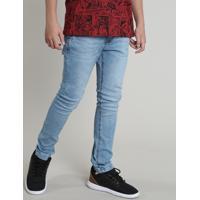 Calça Jeans Infantil Com Bolsos Azul Claro