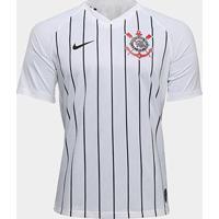 Camisa Corinthians I 19/20 S/Nº Jogador Nike Masculina - Masculino-Branco+Preto