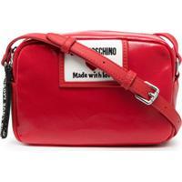 Love Moschino Bolsa Transversal Sporty Label - Vermelho