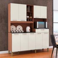 Cozinha Compacta Merlot Prime 9 Pt 1 Gv Marrom E Champagne