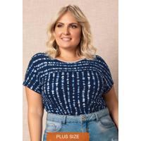 Blusa Azul Marinho Listrada Conforto