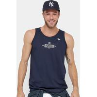 Camiseta Regata Mlb New York Yankees New Era 2023 Lic Masculina - Masculino-Marinho