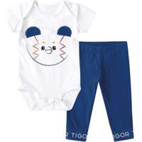 Conjunto Tigor T. Tigre Com Proteção Antiviral Beb