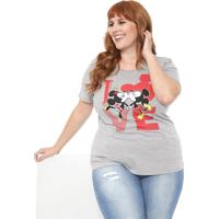 Blusa Cativa Disney Plus Love Cinza