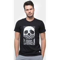 Camiseta Adidas Skull & Net Masculina - Masculino-Preto