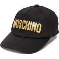 Moschino Kids Boné Com Logo - Preto
