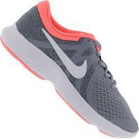 Tênis Nike Revolution 4 Gs Feminino - Infantil - Azul/Branco