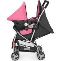 Carrinho + Bebê Conforto Flip Travel System Rosa Bb620