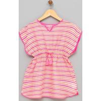 Vestido Saída De Praia Infantil - Tam Pp Ao Gg
