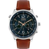 30b1a7fd340 Relógio Vivara Masculino Couro Marrom - Ds13700R0H-2