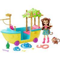 Boneca E Veículo Enchantimals Aventura Na Selva - Mattel