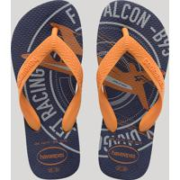 "Chinelo Infantil Havaianas Top ""Athletic"" Azul Marinho"