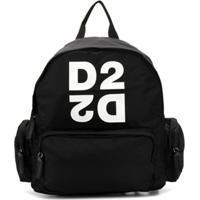 Dsquared2 Kids Mochila Com Estampa De Logo - Preto